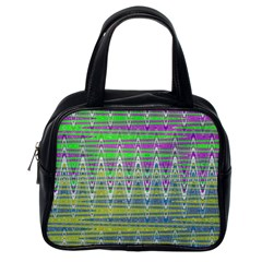 Colorful Zigzag Pattern Classic Handbags (one Side)