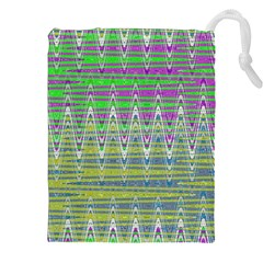 Colorful Zigzag Pattern Drawstring Pouches (XXL)
