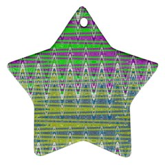 Colorful Zigzag Pattern Ornament (star)