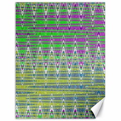 Colorful Zigzag Pattern Canvas 18  X 24