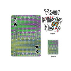 Colorful Zigzag Pattern Playing Cards 54 (mini)