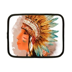 Native American Young Indian Shief Netbook Case (Small)