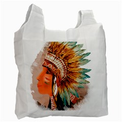 Native American Young Indian Shief Recycle Bag (One Side)
