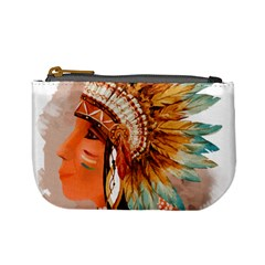 Native American Young Indian Shief Mini Coin Purses