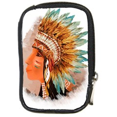 Native American Young Indian Shief Compact Camera Cases