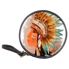 Native American Young Indian Shief Classic 20 Cd Wallets