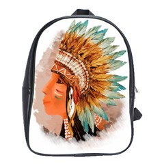 Native American Young Indian Shief School Bags(Large)