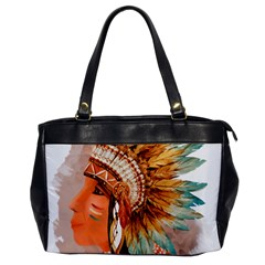 Native American Young Indian Shief Office Handbags