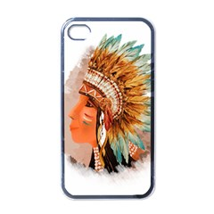 Native American Young Indian Shief Apple Iphone 4 Case (black)
