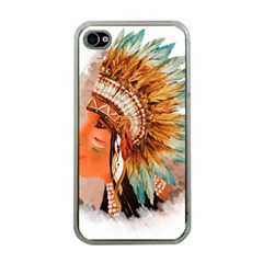 Native American Young Indian Shief Apple Iphone 4 Case (clear)