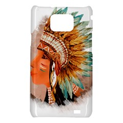 Native American Young Indian Shief Samsung Galaxy S2 i9100 Hardshell Case