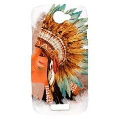 Native American Young Indian Shief HTC One S Hardshell Case