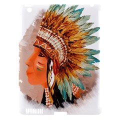 Native American Young Indian Shief Apple iPad 3/4 Hardshell Case (Compatible with Smart Cover)