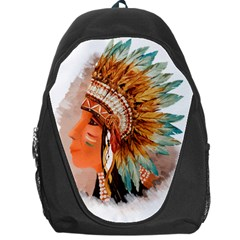 Native American Young Indian Shief Backpack Bag