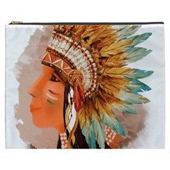Native American Young Indian Shief Cosmetic Bag (XXXL)