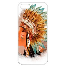 Native American Young Indian Shief Apple Iphone 5 Seamless Case (white)