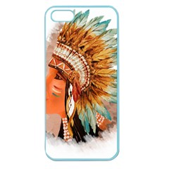 Native American Young Indian Shief Apple Seamless Iphone 5 Case (color)