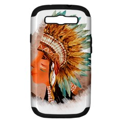 Native American Young Indian Shief Samsung Galaxy S III Hardshell Case (PC+Silicone)
