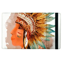 Native American Young Indian Shief Apple iPad 3/4 Flip Case