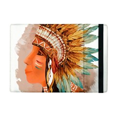 Native American Young Indian Shief Apple iPad Mini Flip Case