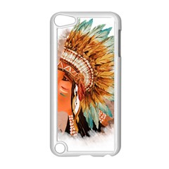 Native American Young Indian Shief Apple iPod Touch 5 Case (White)