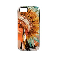 Native American Young Indian Shief Apple Iphone 5 Classic Hardshell Case (pc+silicone)