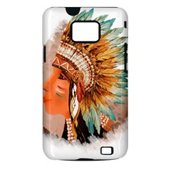 Native American Young Indian Shief Samsung Galaxy S II i9100 Hardshell Case (PC+Silicone)