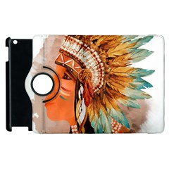 Native American Young Indian Shief Apple iPad 2 Flip 360 Case