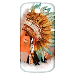 Native American Young Indian Shief Samsung Galaxy S3 S Iii Classic Hardshell Back Case