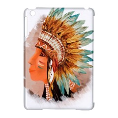 Native American Young Indian Shief Apple Ipad Mini Hardshell Case (compatible With Smart Cover)