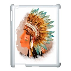 Native American Young Indian Shief Apple Ipad 3/4 Case (white)