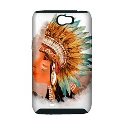 Native American Young Indian Shief Samsung Galaxy Note 2 Hardshell Case (PC+Silicone)