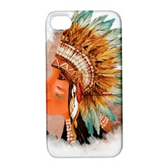 Native American Young Indian Shief Apple iPhone 4/4S Hardshell Case with Stand