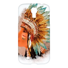 Native American Young Indian Shief Samsung Galaxy S4 I9500/i9505 Hardshell Case