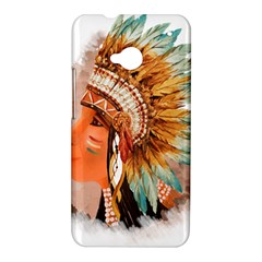Native American Young Indian Shief HTC One M7 Hardshell Case