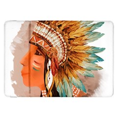 Native American Young Indian Shief Samsung Galaxy Tab 8.9  P7300 Flip Case