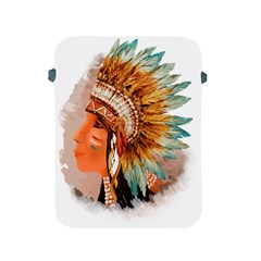 Native American Young Indian Shief Apple iPad 2/3/4 Protective Soft Cases