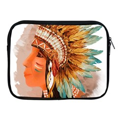 Native American Young Indian Shief Apple iPad 2/3/4 Zipper Cases