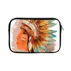 Native American Young Indian Shief Apple Ipad Mini Zipper Cases