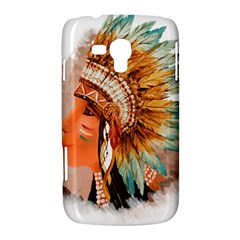 Native American Young Indian Shief Samsung Galaxy Duos I8262 Hardshell Case