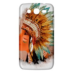 Native American Young Indian Shief Samsung Galaxy Mega 5.8 I9152 Hardshell Case