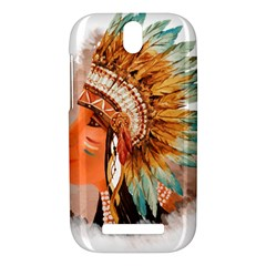 Native American Young Indian Shief HTC One SV Hardshell Case