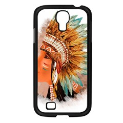 Native American Young Indian Shief Samsung Galaxy S4 I9500/ I9505 Case (black)