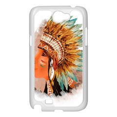 Native American Young Indian Shief Samsung Galaxy Note 2 Case (White)