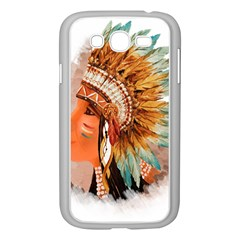 Native American Young Indian Shief Samsung Galaxy Grand DUOS I9082 Case (White)