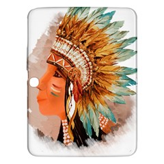 Native American Young Indian Shief Samsung Galaxy Tab 3 (10.1 ) P5200 Hardshell Case