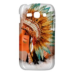 Native American Young Indian Shief Samsung Galaxy Ace 3 S7272 Hardshell Case