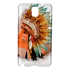 Native American Young Indian Shief Samsung Galaxy Note 3 N9005 Hardshell Case