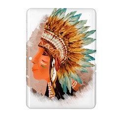 Native American Young Indian Shief Samsung Galaxy Tab 2 (10 1 ) P5100 Hardshell Case