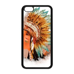 Native American Young Indian Shief Apple iPhone 5C Seamless Case (Black)